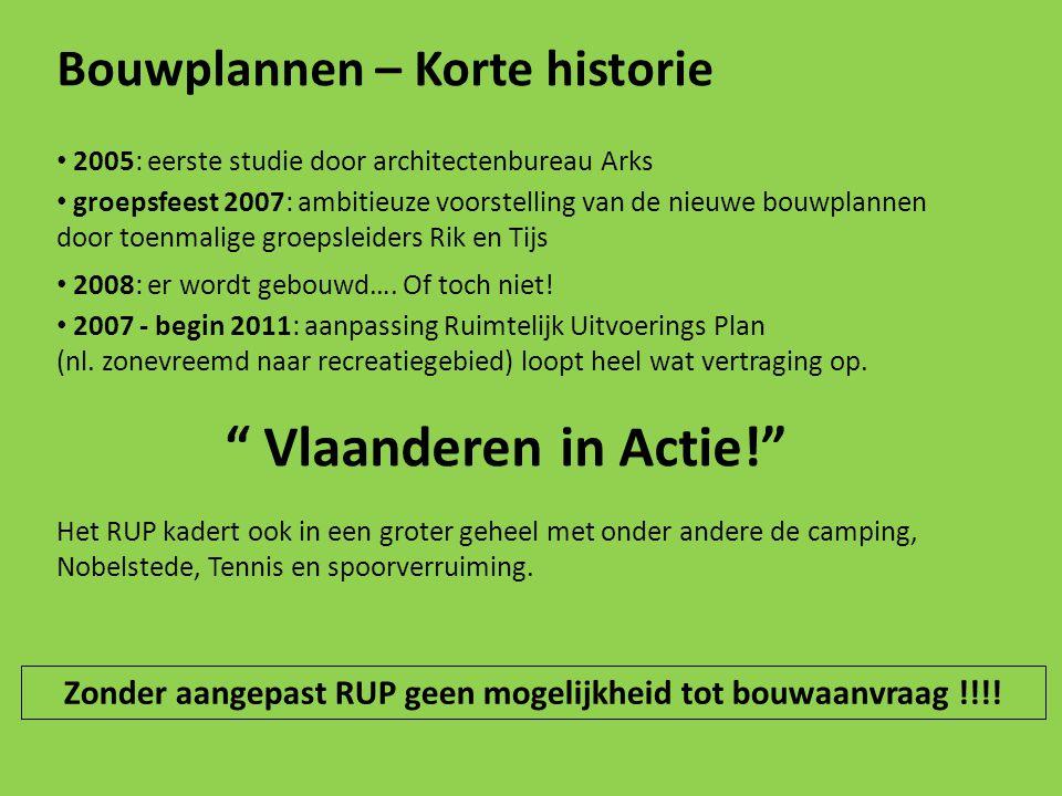 Bouwplannen – Korte historie 2005: eerste studie door architectenbureau Arks groepsfeest 2007: ambitieuze voorstelling van de nieuwe bouwplannen door