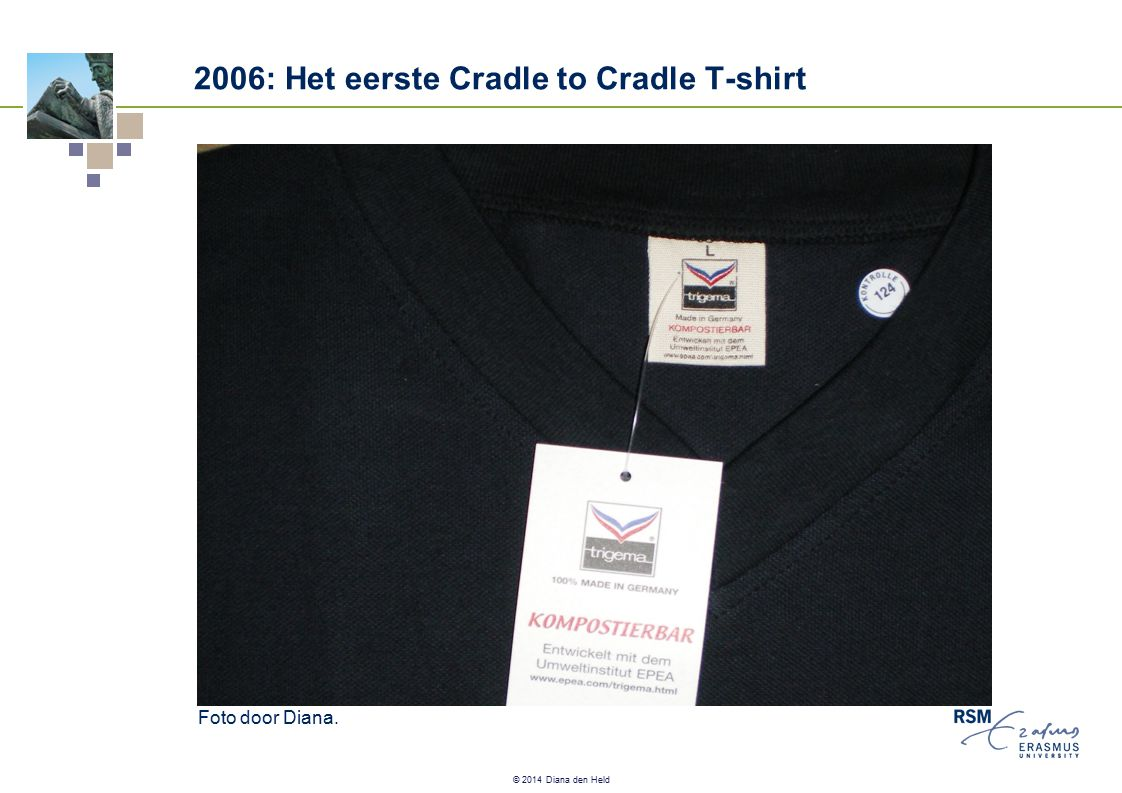 © 2014 Diana den Held 2006: Het eerste Cradle to Cradle T-shirt Foto door Diana.
