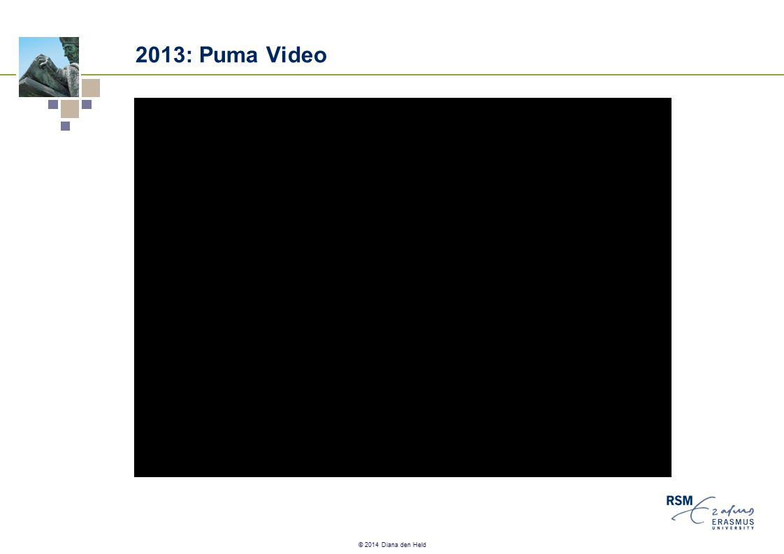 © 2014 Diana den Held 2013: Puma Video