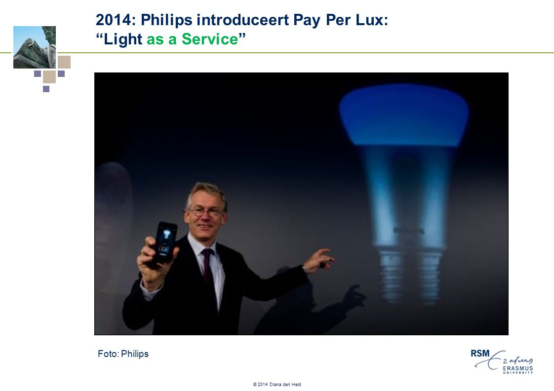 "© 2014 Diana den Held 2014: Philips introduceert Pay Per Lux: ""Light as a Service"" Foto: Philips"