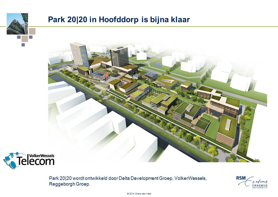 © 2014 Diana den Held Park 20|20 in Hoofddorp is bijna klaar Park 20|20 wordt ontwikkeld door Delta Development Groep, VolkerWessels, Reggeborgh Groep.