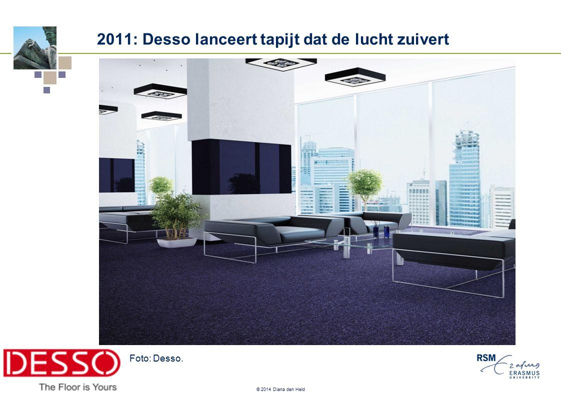 © 2014 Diana den Held 2011: Desso lanceert tapijt dat de lucht zuivert Foto: Desso.