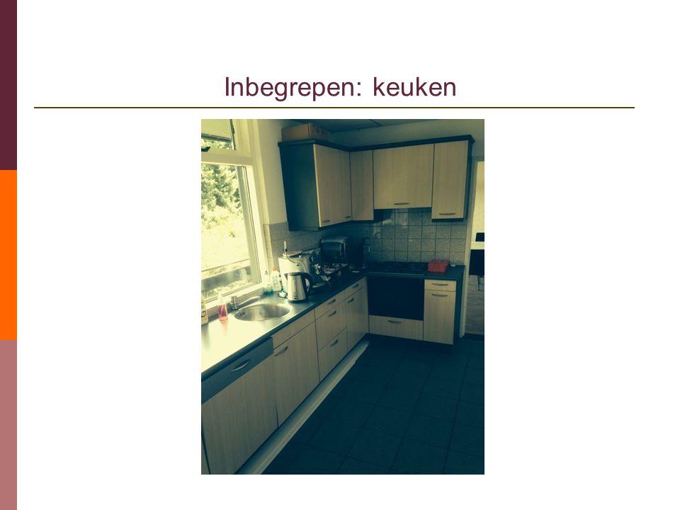 Inbegrepen: keuken