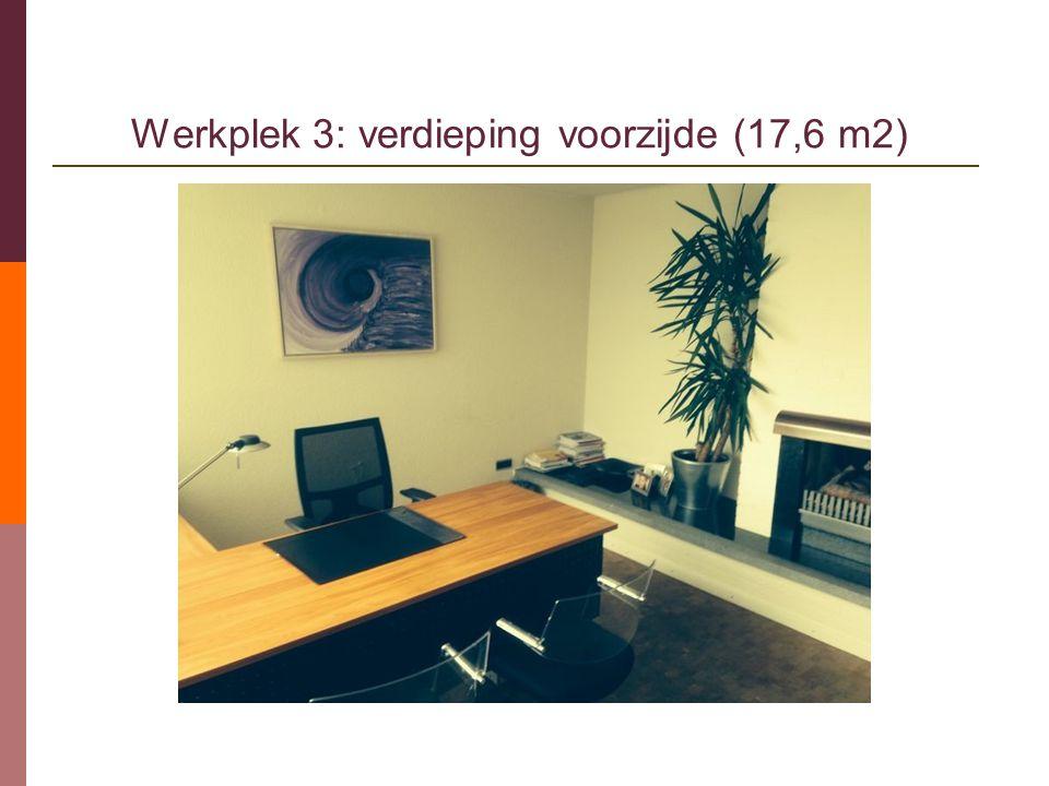 Werkplek 3: verdieping voorzijde (17,6 m2)