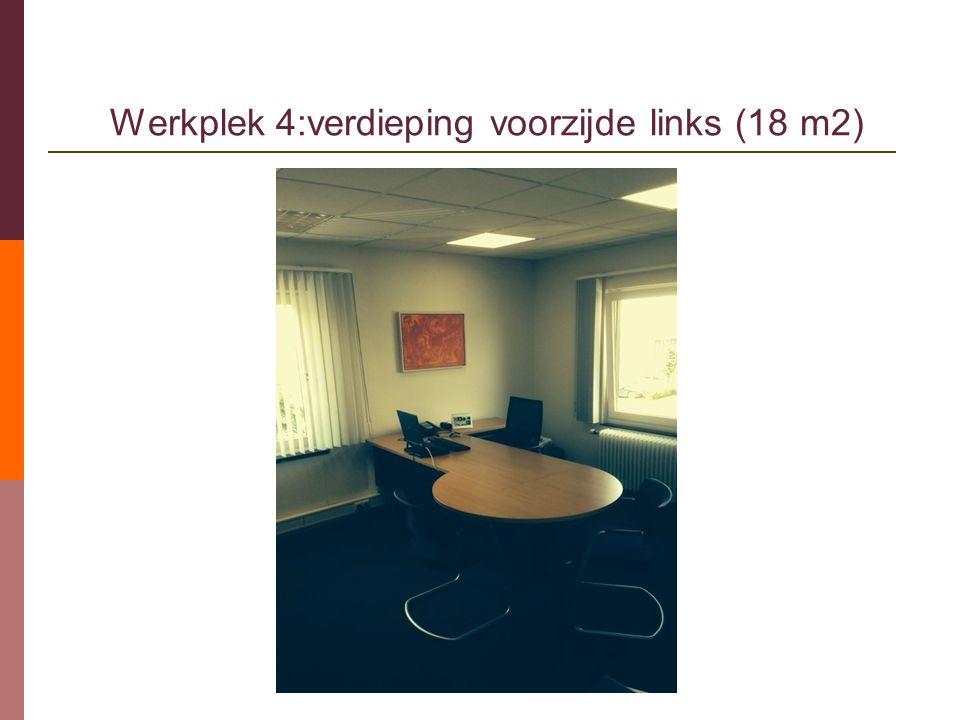 Werkplek 4:verdieping voorzijde links (18 m2)
