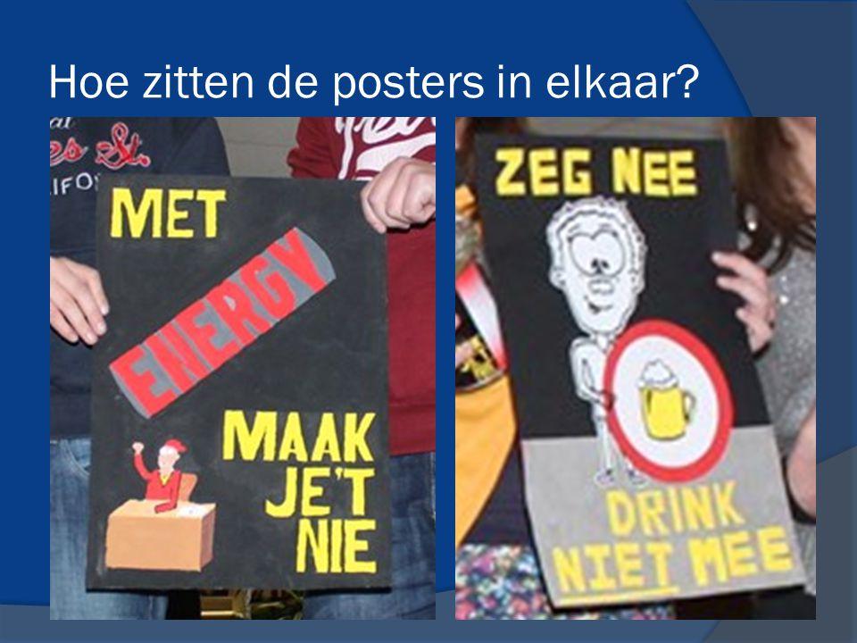 Hoe zitten de posters in elkaar