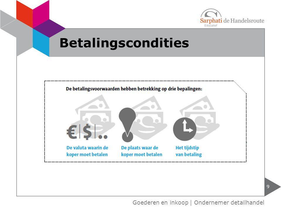 9 Goederen en inkoop | Ondernemer detailhandel Betalingscondities