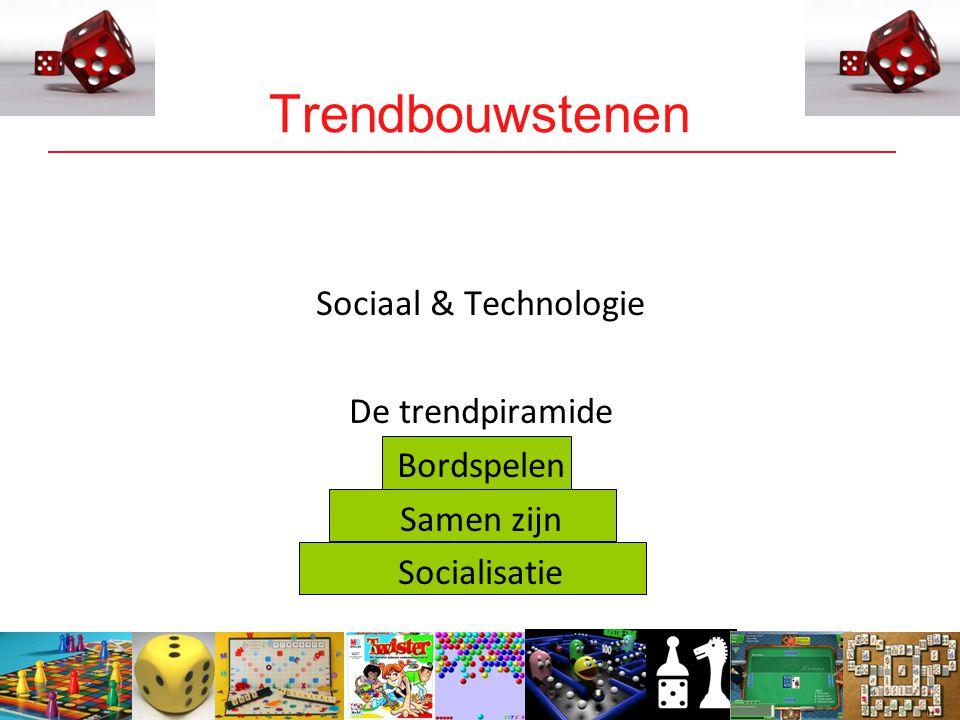 10 Trendbouwstenen Sociaal & Technologie De trendpiramide Bordspelen Samen zijn Socialisatie