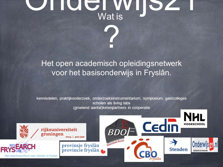 Onderwijs21 . Het open academisch opleidingsnetwerk voor het basisonderwijs in Fryslân.