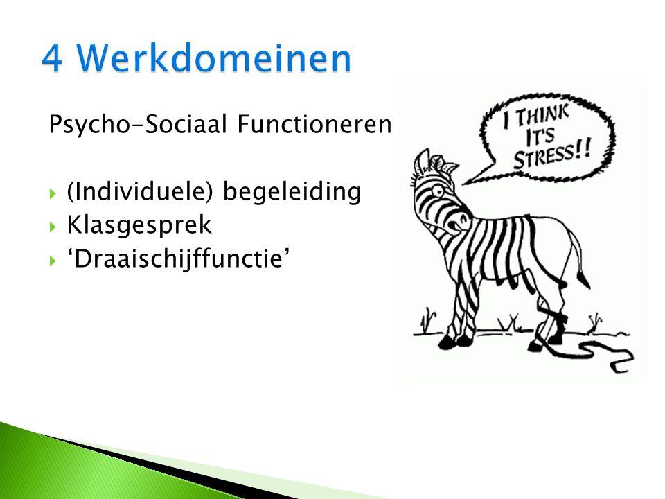 Psycho-Sociaal Functioneren  (Individuele) begeleiding  Klasgesprek  'Draaischijffunctie'
