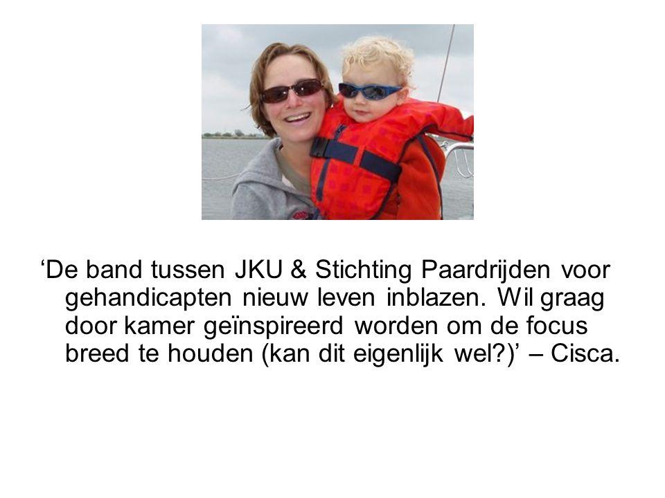 'De band tussen JKU & Stichting Paardrijden voor gehandicapten nieuw leven inblazen.