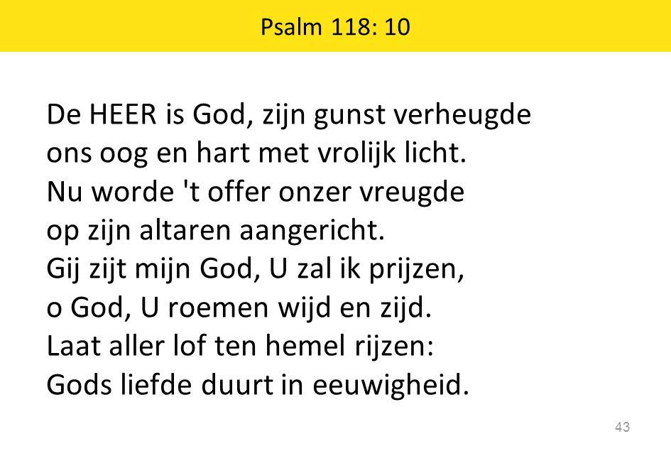 De HEER is God, zijn gunst verheugde ons oog en hart met vrolijk licht.