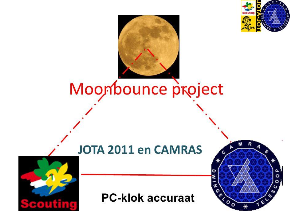 Moonbounce project JOTA 2011 en CAMRAS PC-klok accuraat