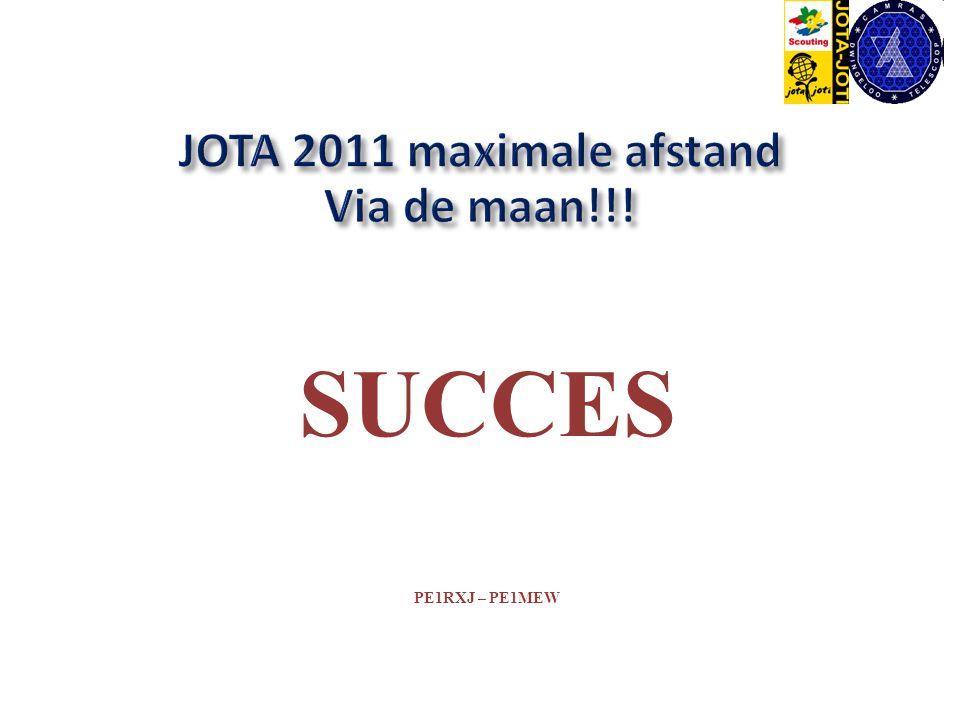 SUCCES PE1RXJ – PE1MEW