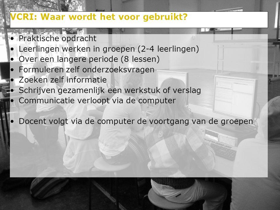 18/29 Opbouw van de presentatie Achtergrond: Samenwerkend leren, het studiehuis computerondersteund onderwijs, Uitwerking: VCRI Ervaringen met VCRI Huidig onderzoek