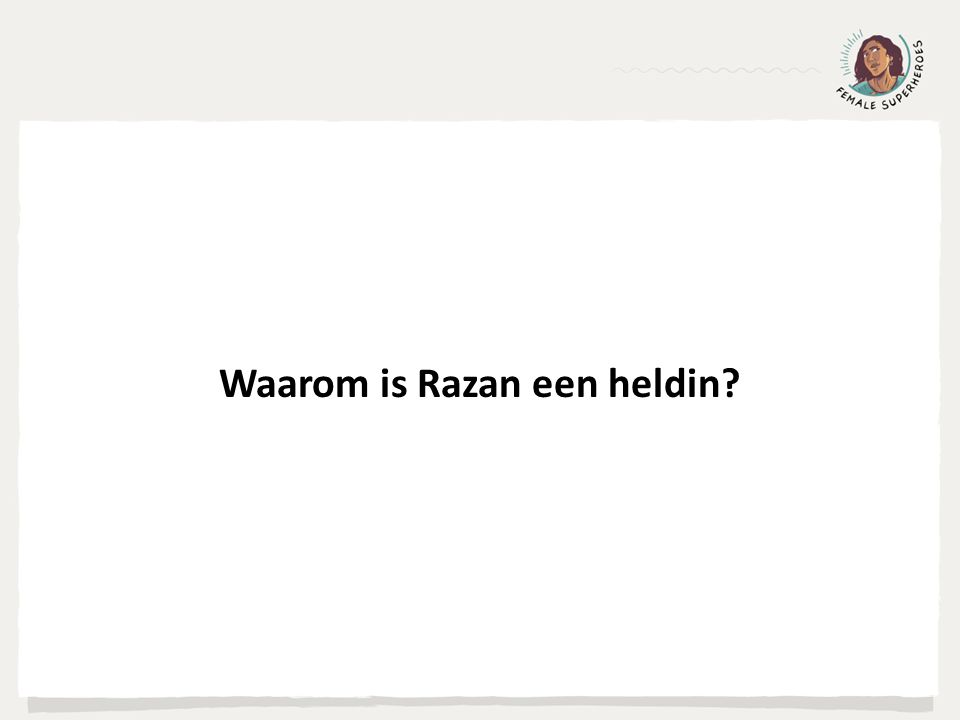 Waarom is Razan een heldin?