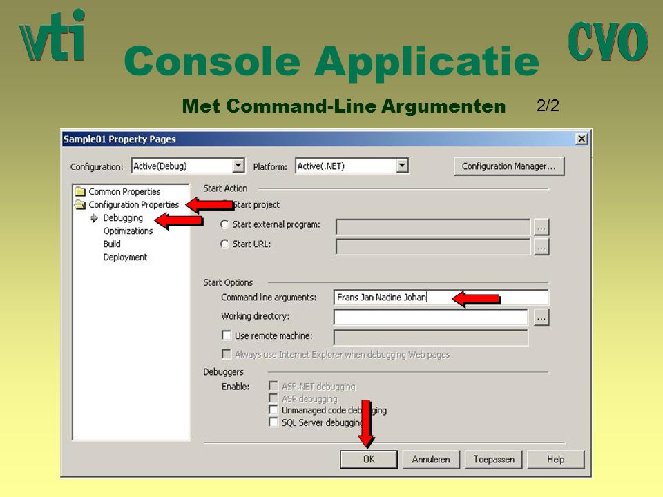 Console Applicatie Met Command-Line Argumenten 2/2 R R