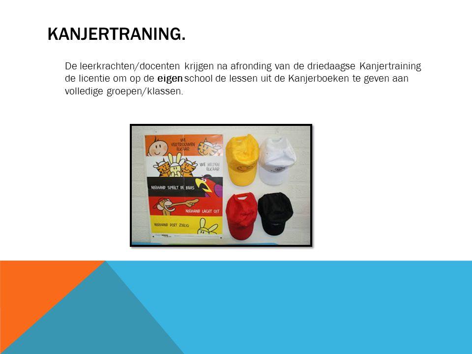 KANJERTRANING. De leerkrachten/docenten krijgen na afronding van de driedaagse Kanjertraining de licentie om op de eigen school de lessen uit de Kanje