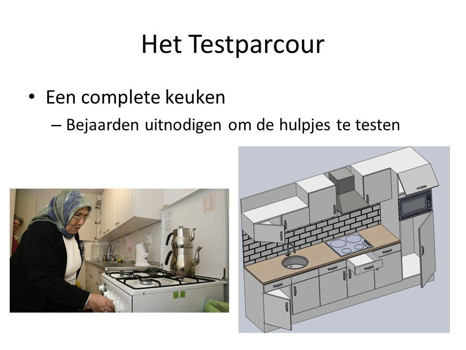 Het Testparcour Een complete keuken – Bejaarden uitnodigen om de hulpjes te testen