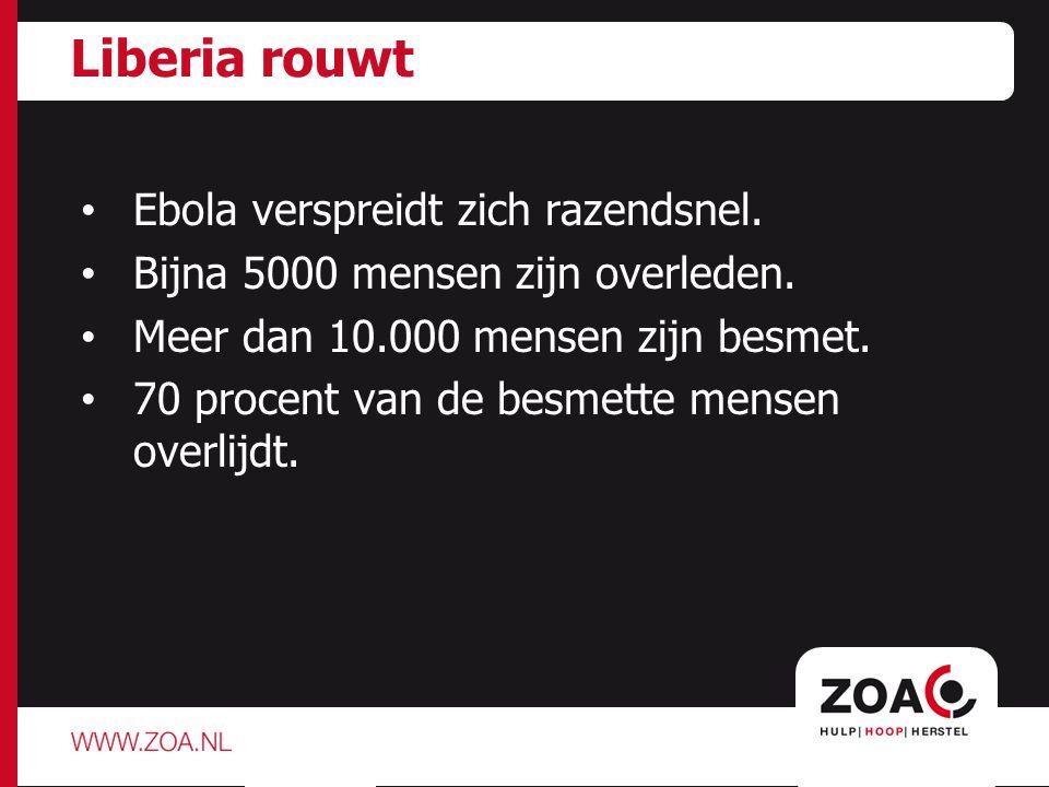 Preventie ZOA richt zich op: Voorlichting.Het uitdelen van chloor, zeep en emmers.