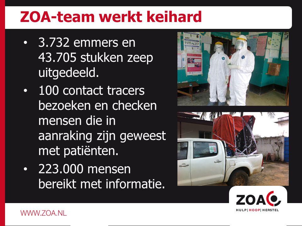 Aantal besmettingen stijgt snel ' Alles wordt steeds duurder: water, chloor, emmers en vervoer.