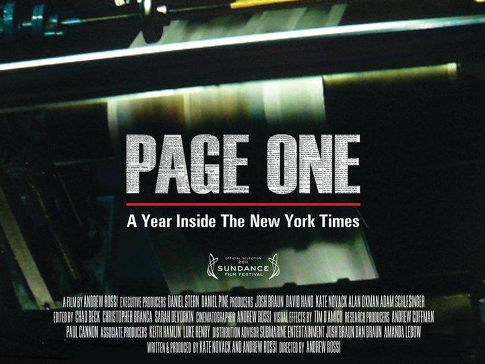 MIJN ERVARING MET PAGE ONE IS DAT DE FILM MIJ IN HET BEGIN ERG BOEIDE.