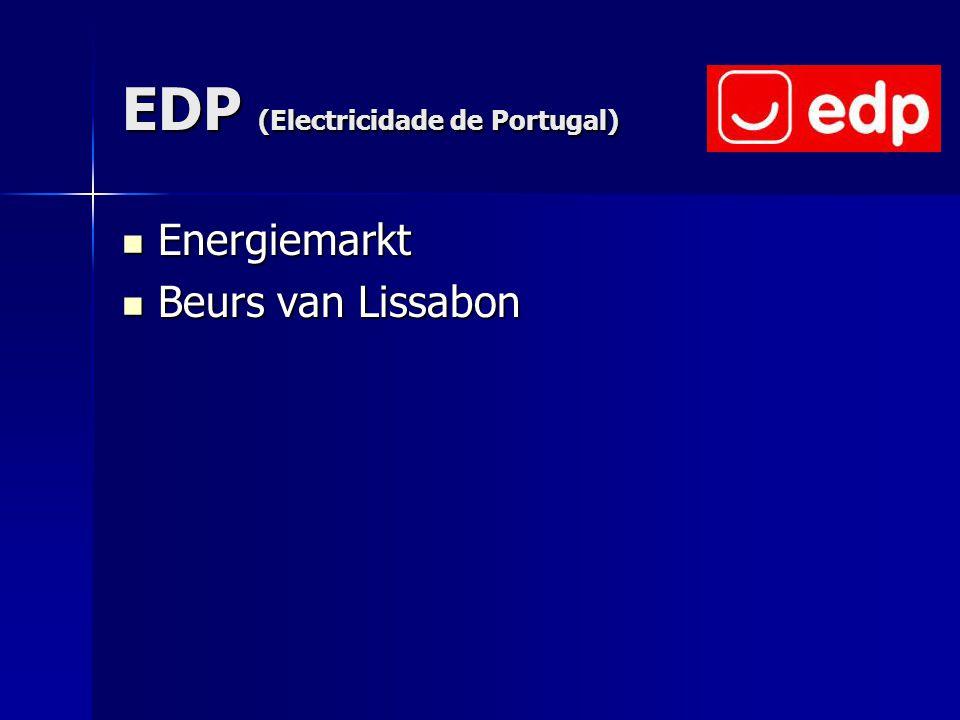 EDP (Electricidade de Portugal) Energiemarkt Energiemarkt Beurs van Lissabon Beurs van Lissabon