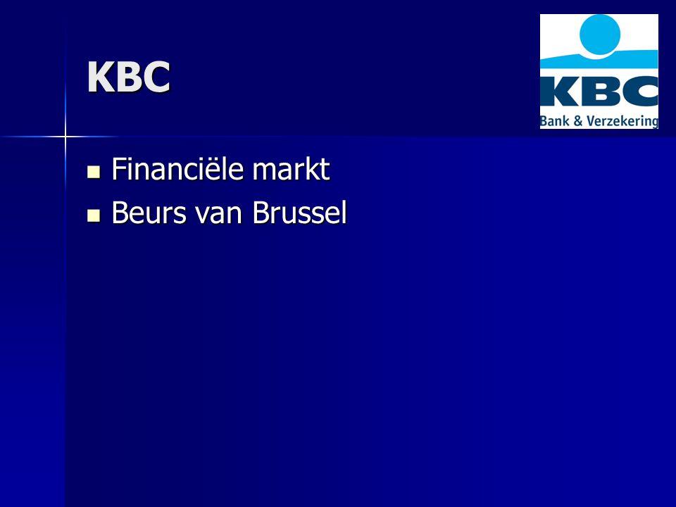 KBC Financiële markt Financiële markt Beurs van Brussel Beurs van Brussel
