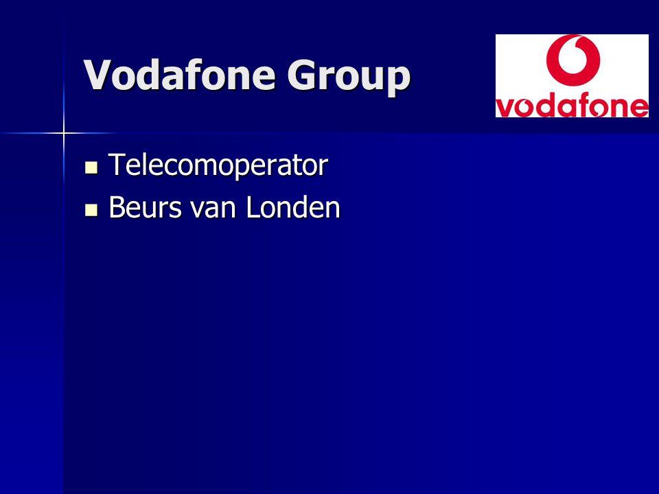 Vodafone Group Telecomoperator Telecomoperator Beurs van Londen Beurs van Londen