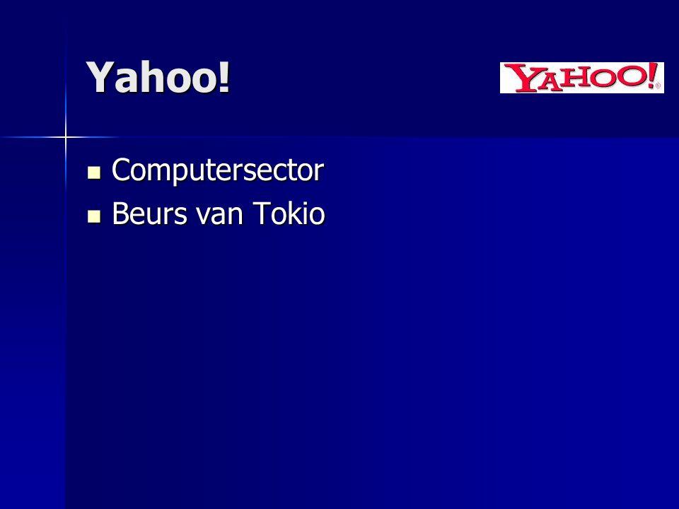 Yahoo! Computersector Computersector Beurs van Tokio Beurs van Tokio