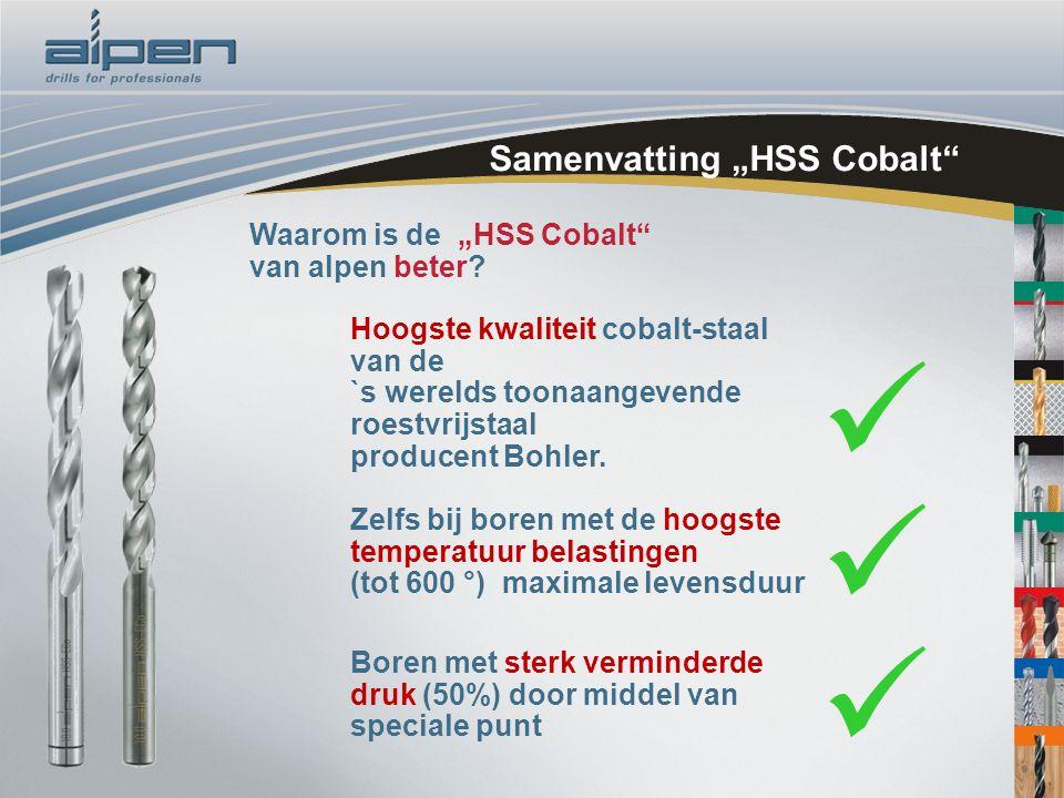 """Samenvatting """"HSS Cobalt"""" Waarom is de """"HSS Cobalt"""" van alpen beter? Hoogste kwaliteit cobalt-staal van de `s werelds toonaangevende roestvrijstaal pr"""