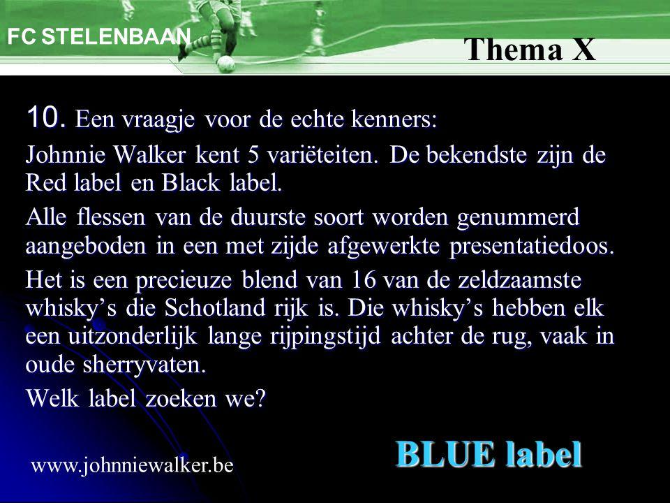10. Een vraagje voor de echte kenners: Johnnie Walker kent 5 variëteiten. De bekendste zijn de Red label en Black label. Alle flessen van de duurste s