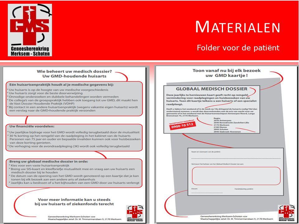 M ATERIALEN Folder voor de patiënt