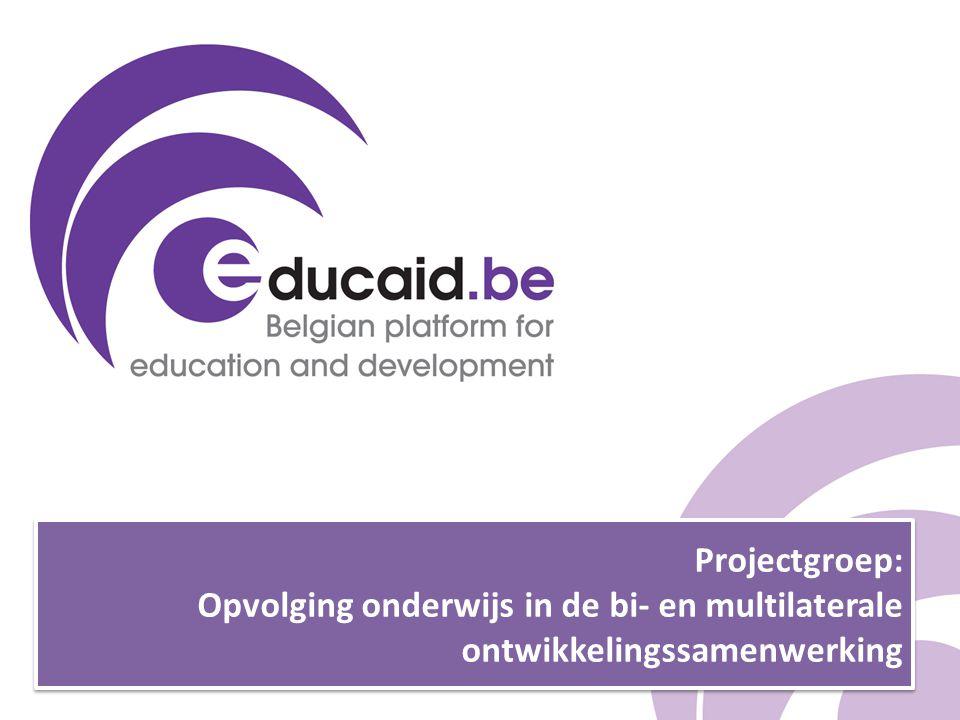 Projectgroep: Opvolging onderwijs in de bi- en multilaterale ontwikkelingssamenwerking
