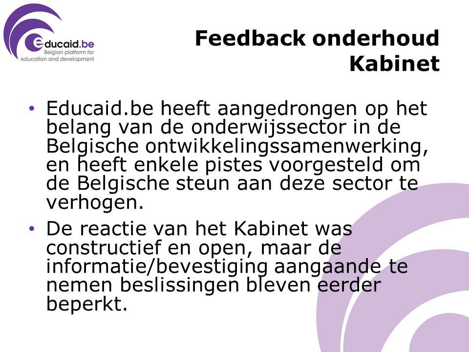 Educaid.be heeft aangedrongen op het belang van de onderwijssector in de Belgische ontwikkelingssamenwerking, en heeft enkele pistes voorgesteld om de Belgische steun aan deze sector te verhogen.