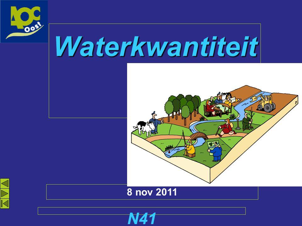 Waterkwantiteit N41 8 nov 2011