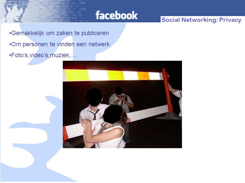 In het algemeen Sociale netwerking is een Web 2.0 toepassing.