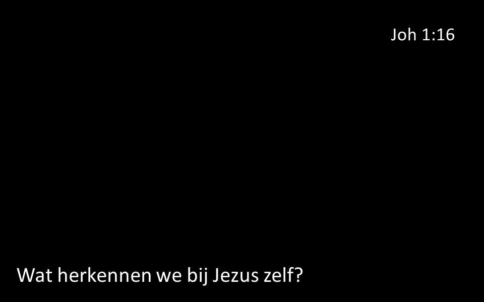 Joh 1:16 Wat herkennen we bij Jezus zelf?