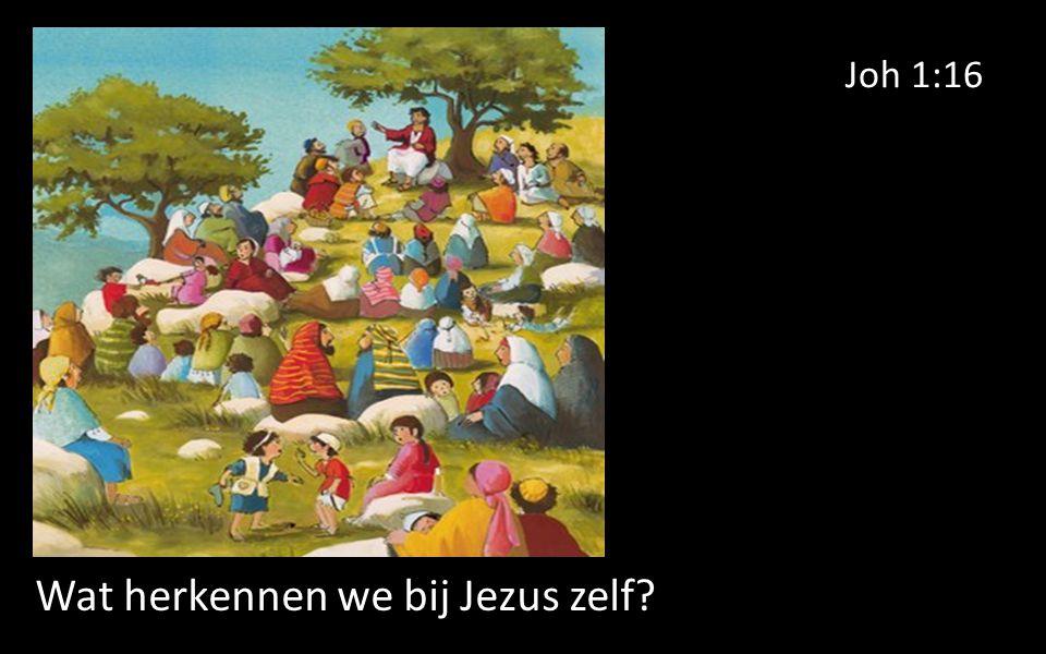 Joh 1:16 Wat herkennen we bij Jezus zelf