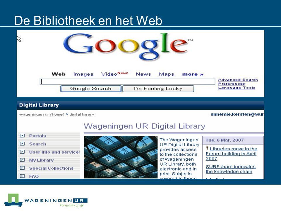 De Bibliotheek en het Web