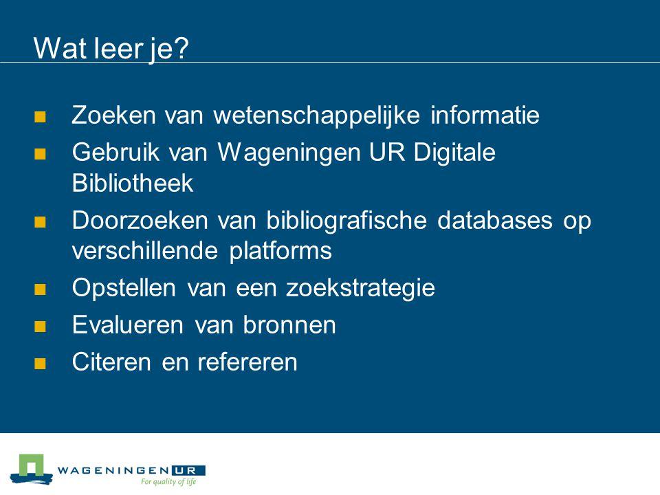 Wageningen UR Digital Library http://library.wur.nl/ http://library.wur.nl/