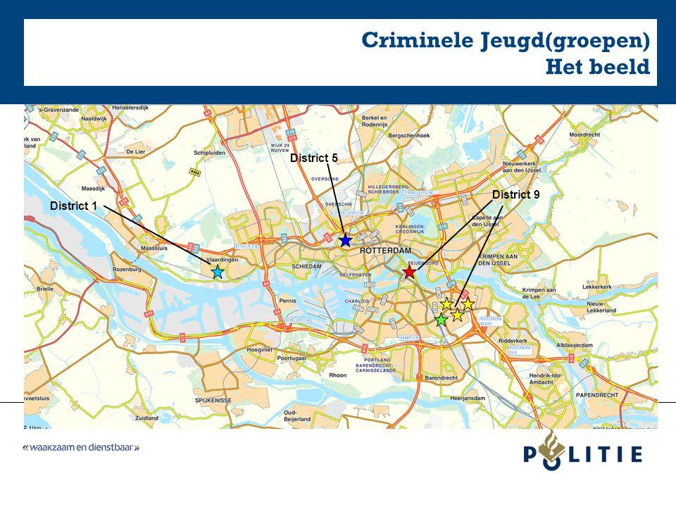 Criminele Jeugd(groepen) Het beeld District 1 District 9 District 5