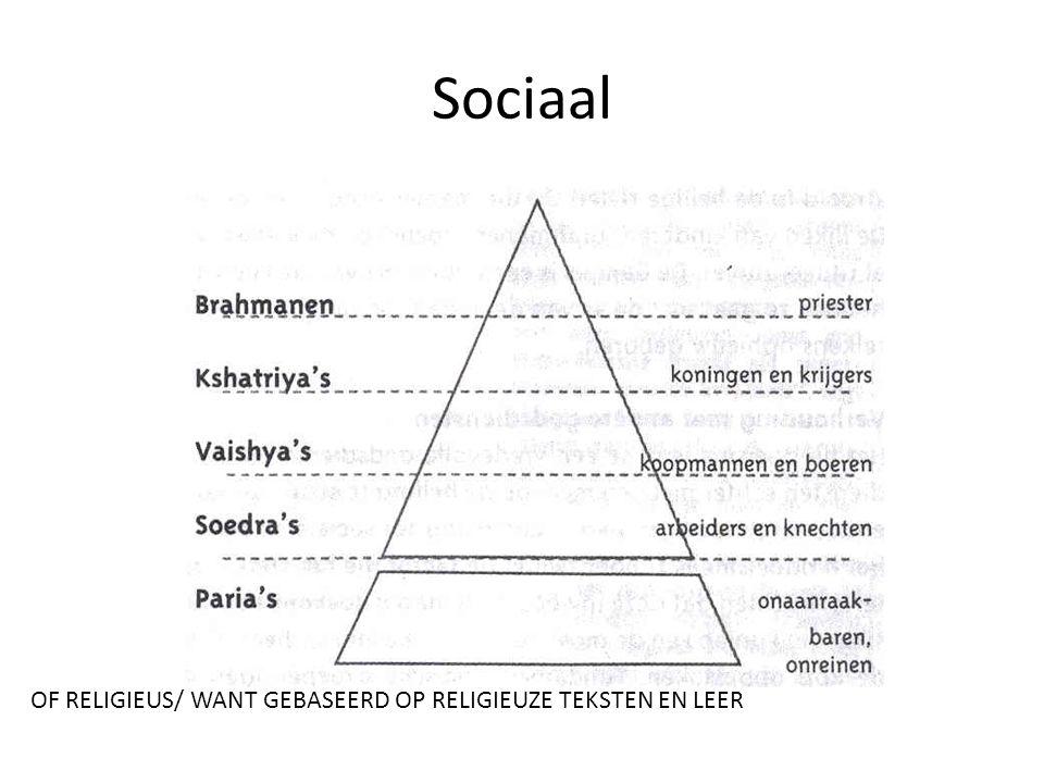 Sociaal OF RELIGIEUS/ WANT GEBASEERD OP RELIGIEUZE TEKSTEN EN LEER