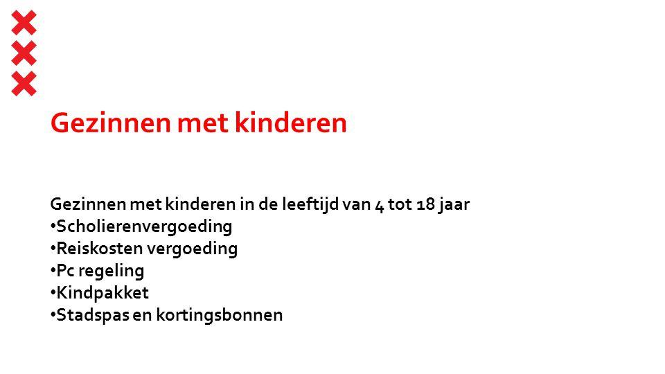 Ouderen Amsterdammers die de pensioengerechtigde leeftijd hebben bereikt Gratis Openbaar vervoer of Compensatie aanvullend openbaar vervoer Stadspas en kortingsbonnen