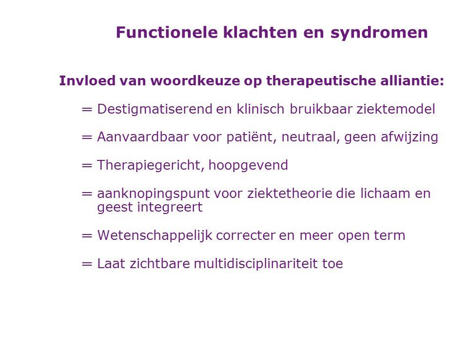 De gemeenschappelijke ziektetheorie (of –hypothese, -model) als geïndividualiseerd verklaringsmodel Diagnose: meer dan uitsluitingsdiagnose Behandeling: reattributiemodel en gevolgenmodel Van diagnose naar behandeling