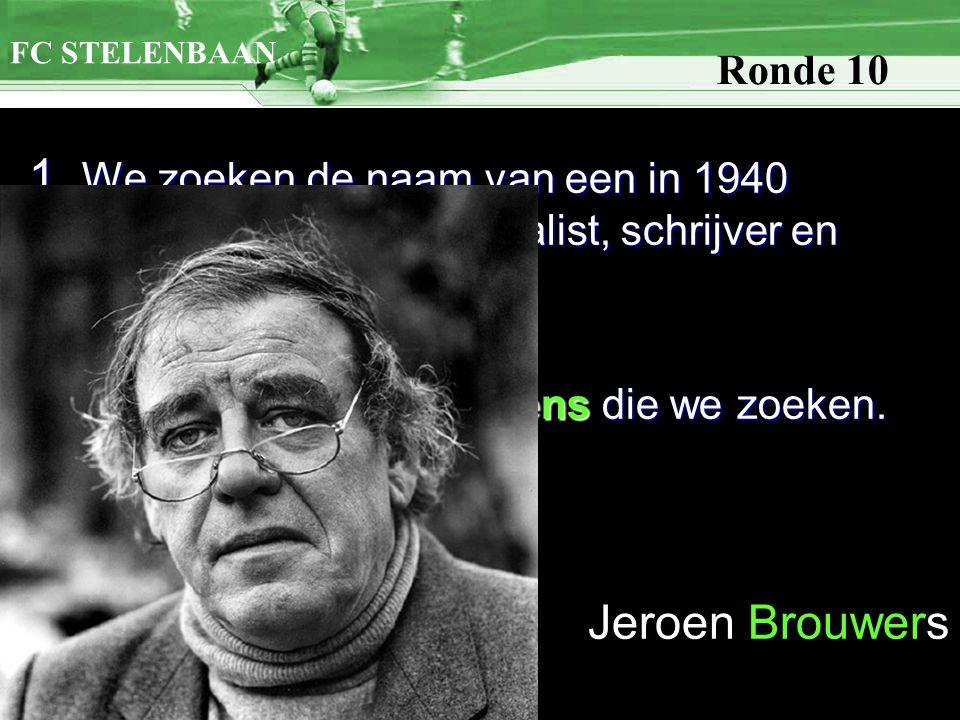 1. We zoeken de naam van een in 1940 geboren Nederlands journalist, schrijver en essayist.