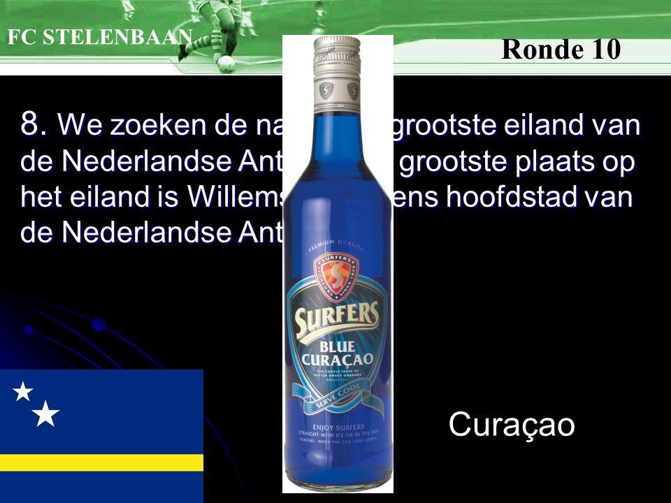 8. We zoeken de naam het grootste eiland van de Nederlandse Antillen.