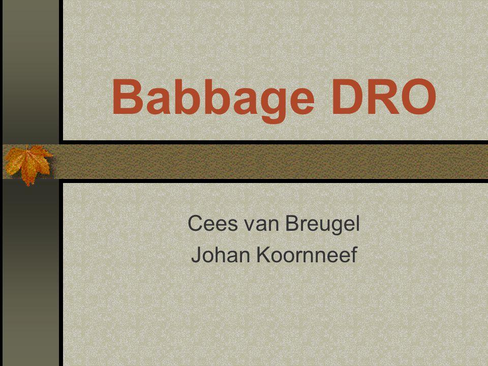 Achtergrond DRO ECDL DRO in 7 modulen – Babbage for Masters 2001: DRO in 5 modulen – Babbage DRO Geen directe verplichting