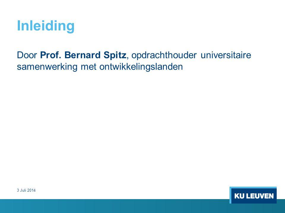 Inleiding Door Prof.