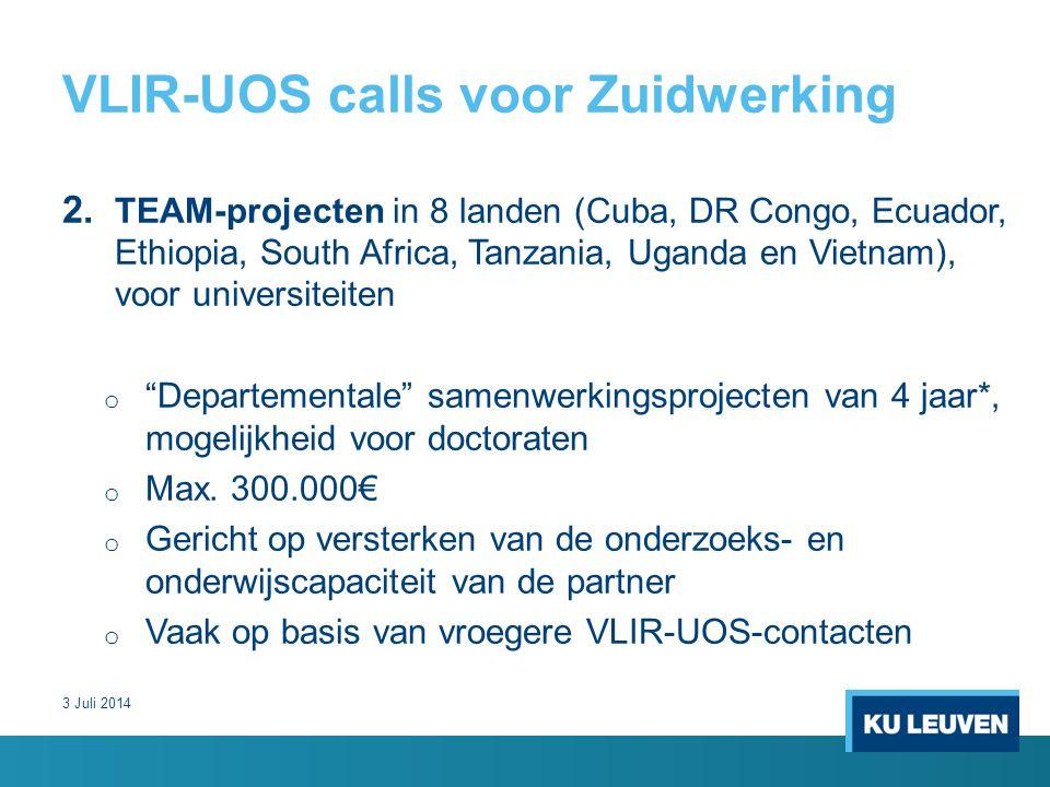 VLIR-UOS calls voor Zuidwerking 2.